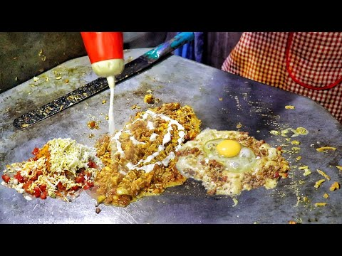 Indian Street Food – Scrambled Egg Jolly Andsand | Egg Street Food