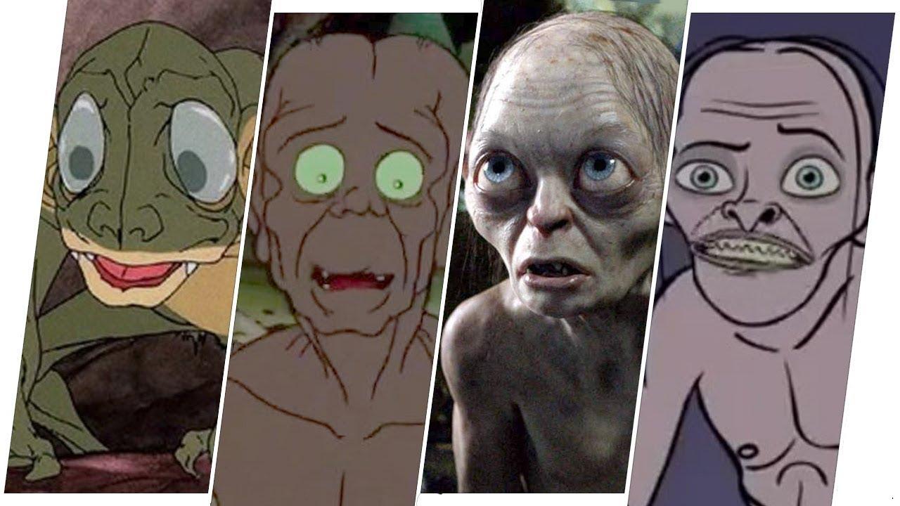 Download Gollum Evolution in Movies, Cartoons & TV.