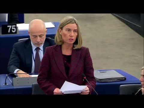 Mogherini on peace prospects for Korean peninsula at European Parliament 13/03