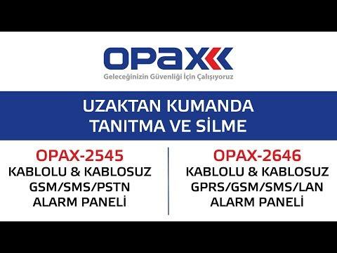 OPAX-2545 ve OPAX-2646 Uzaktan Kumanda Tanıtma ve Silme