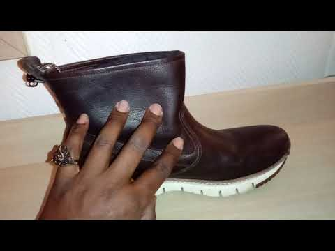 Cole Haan Mens ZeroGrand Pull On Waterproof Leather Boot Review. Watch N Shoes!