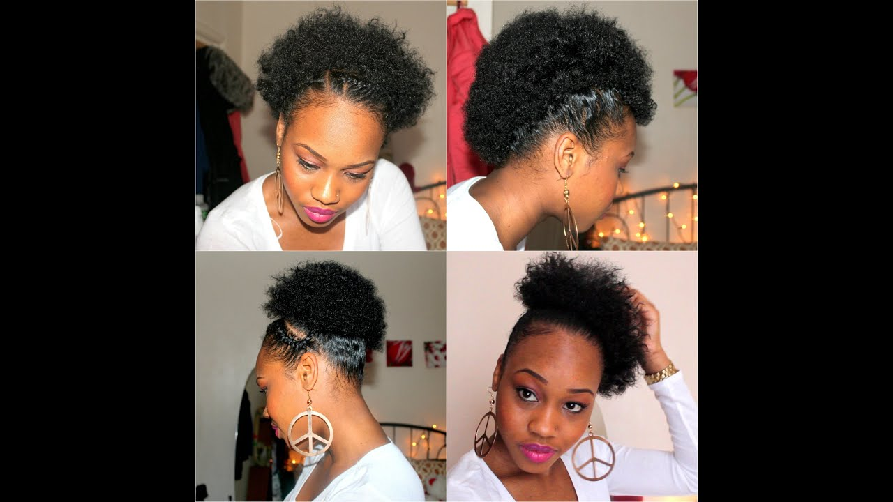 21. Four Quick easy styles for Short Natural Hair - YouTube