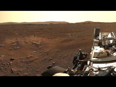 NASA Rover Perseverance Mars Surface Close Up Mastcam-Z 360-degree Panorama View 4K