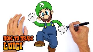 How to Draw Luigi | Mario Bros