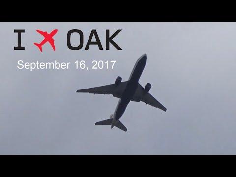 Planespotting at Oakland International Airport(Overhead takeoffs and landings) (September 26, 2017)