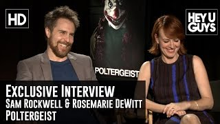 Sam Rockwell & Rosemarie DeWitt Exclusive Interview - Poltergeist (With British Accents!)