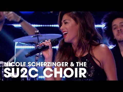 Nicole Scherzinger and SU2C Choir Sing Brave | Stand Up To Cancer