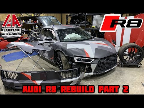 Rebuilding a Wrecked 2018 Audi R8 Part 2