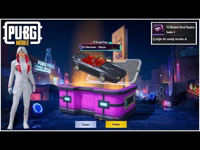 YIL DÖNÜMÜ SANDIĞI - Pubg Mobile İkmal Kuponu (Anniversary Crate Opening)