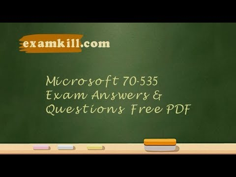 Free Demo Offer of Microsoft 70-535 Exam Dumps 2018