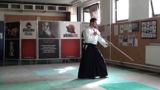 zengo no ido menuchi gedan gaeshi [TUTORIAL] Aikido advanced weapon technique