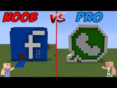 MINECRAFT: NOOB VS PRO - Rumah Facebook Vs Rumah Whatsapp
