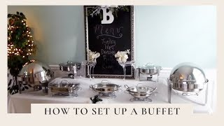 How To Set Up A Buffet