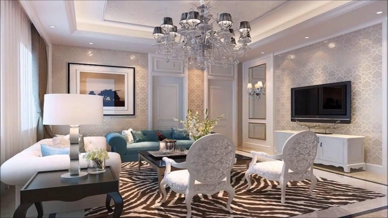 Living Room Design Ideas LCD Wall Interior YouTube