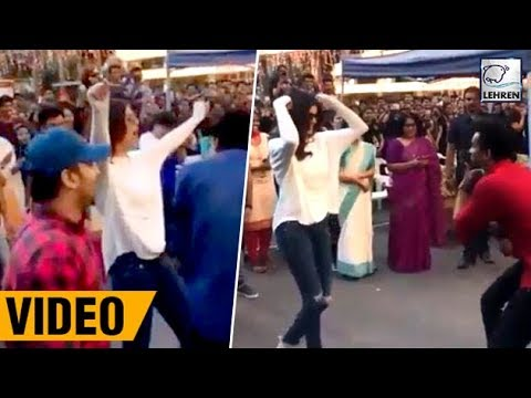 Sushmita Sen's Street Dance With College Kids | Full Video | LehrenTV