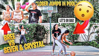 2 VS 1 AGAINST SEVEN & CRYSTAL!! LOSER JUMPS INTO POOL WITH CLOTHES ON!