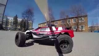 DIY GoPro Camera Swivel mount for RC Car. Outdoor test run.