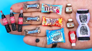 10 DIY MINIATURE BARBIE ~ Miniature of Food and Drinks, Life Hacks crafts !!!