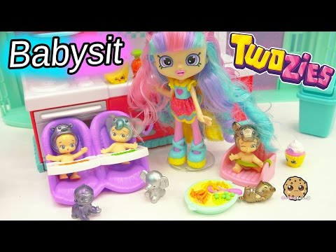 Shopkins Shoppies Doll Rainbow Kate Babysits Limited Edition Twozies Babies Part 1