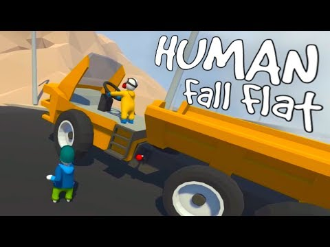 Human Fall Flat - High Flying Coal Mining! - Power Plant - Human Fall Flat Multiplayer Gameplay