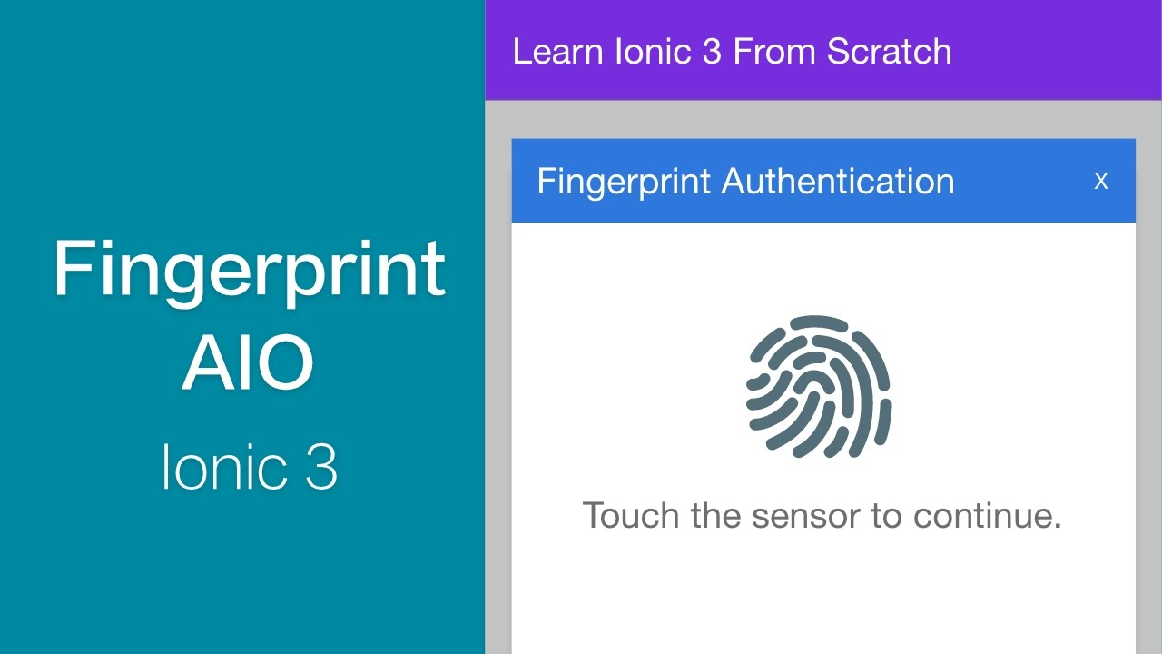 Ionic 3 - Fingerprint Authentication with Android/iOS