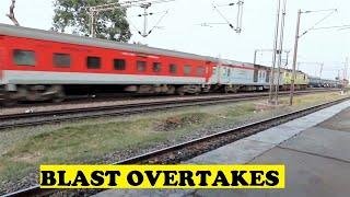 WAP4 Poorva Triple Overtake By Rajdhanis Ajaibpur