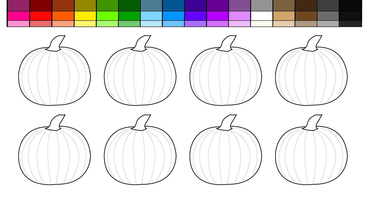 Learn Colors For Kids And Halloween Pumpkin Patch Coloring Pages