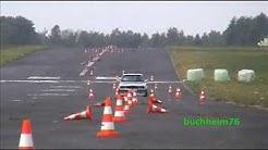 """Stunt BMW 318iS, Slalom DM Meinerzhagen, E30, Action, (fast)crash, """"very lucky"""""""