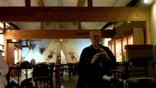 Native American Flute Circle 2012 video blog 2-25. Playing music in American Indian museum