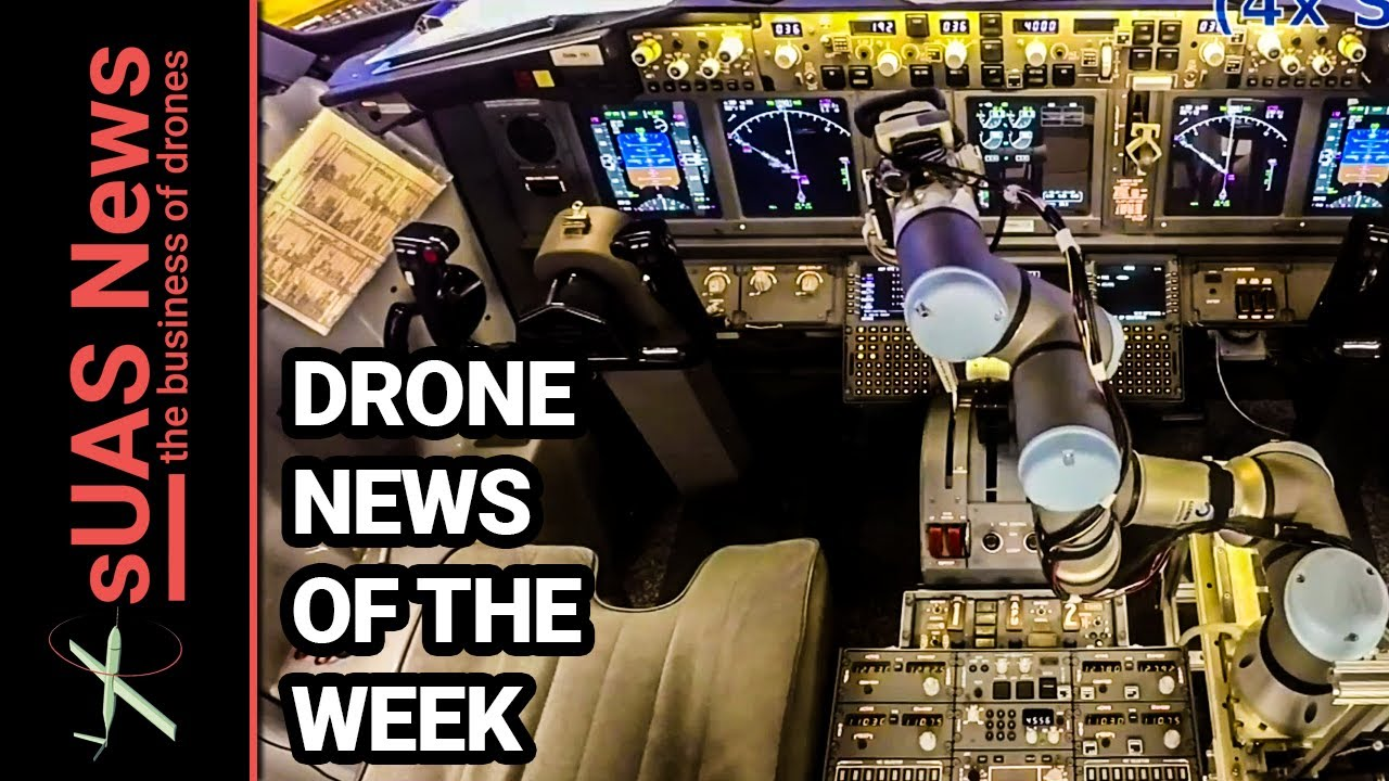 Robot pilot flies & lands Boeing 737 simulator | Weekly Drone News