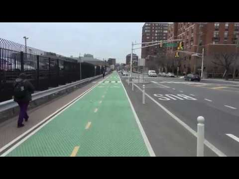 Ride Hoboken's Observer Highway Protected Bike Lane
