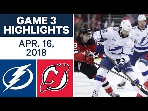 NHL Highlights | Lightning vs. Devils, Game 3 - Apr. 16, 2018