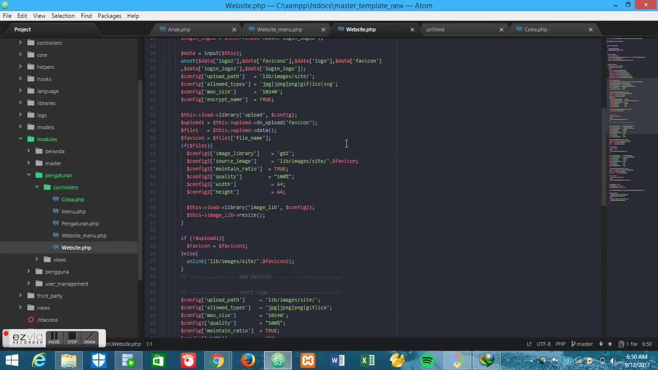 Dynamic Codeigniter,CMS,Angularjs,JWT,API Part 1