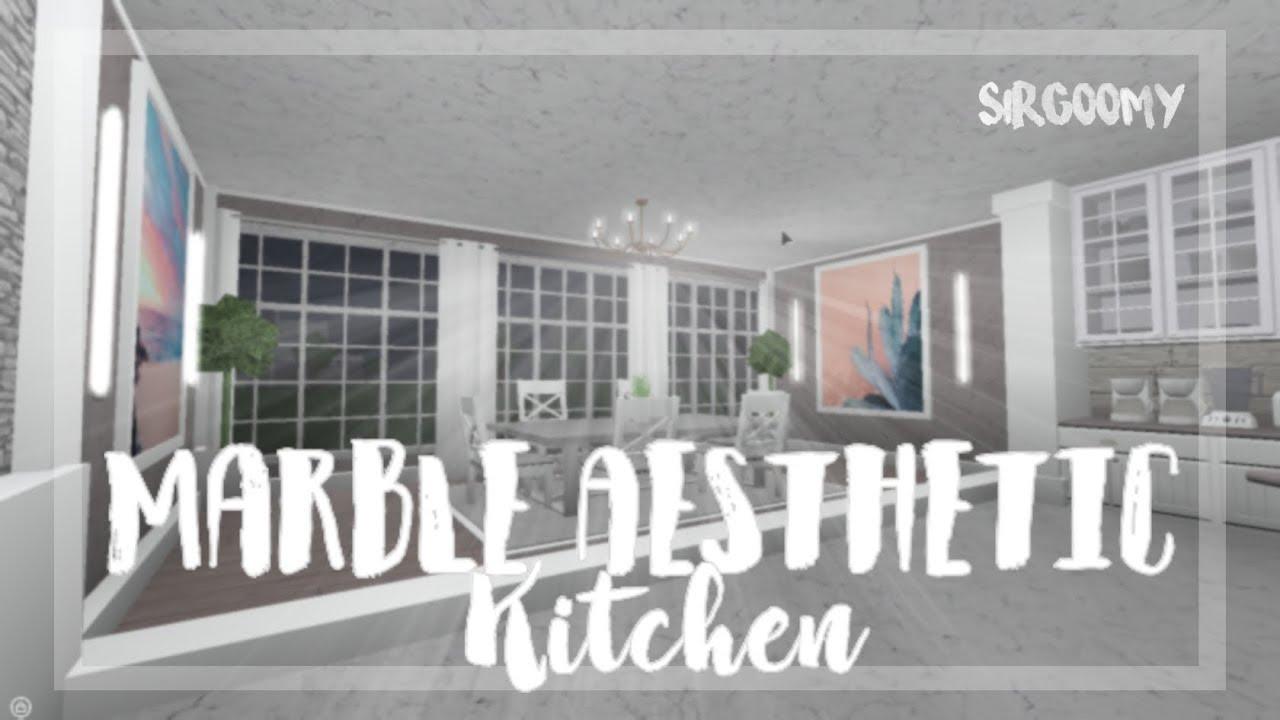 Bloxburg Speedbuild Marble Aesthetic Kitchen Youtube