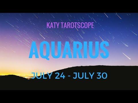 AQUARIUS INTUITIVE GUIDANCE PLEASE! 24-30 July 2017 Tarot Reading   Katy Tarot