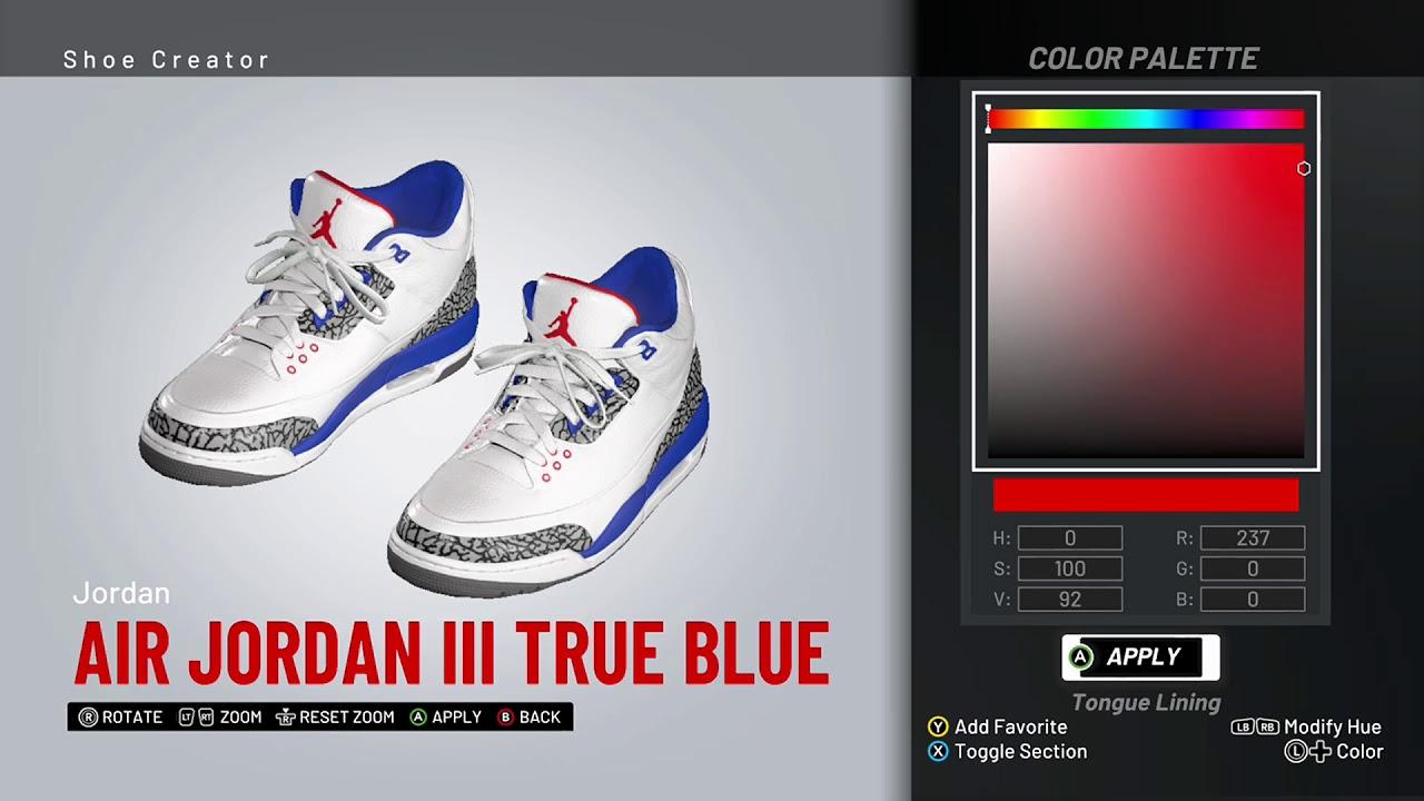 the latest cce00 60423 NBA 2K19 Shoe Creator - Air Jordan 3