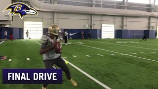 James Proche Catches Passes From Robert Griffin III | Ravens Final Drive