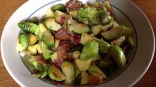 Roasted Brussels Sprouts With Bacon, Onion And Apple--dress