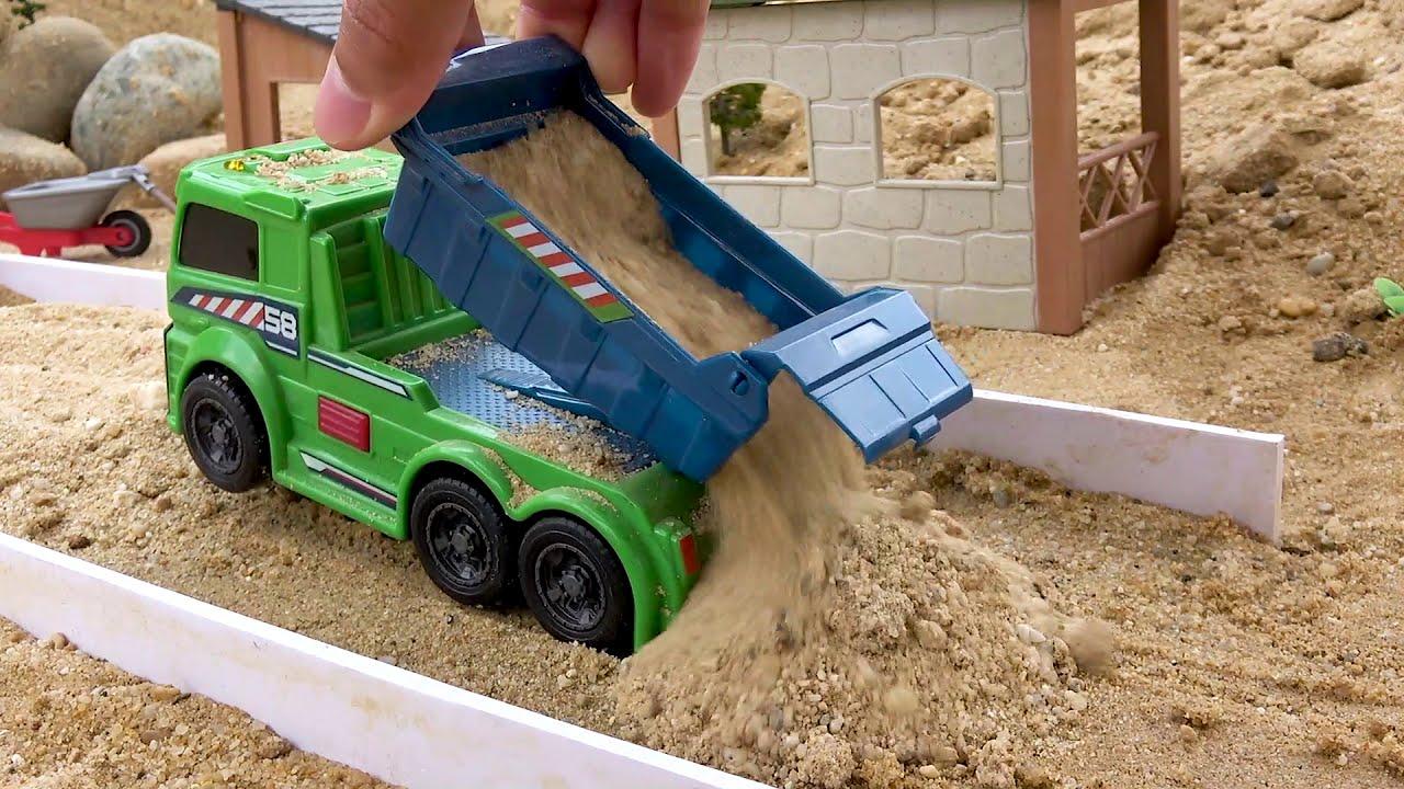 Konstruksi Truk Pasir, Eskavator, Truk derek, Mobil Truk Mainan untuk Anak anak