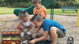 Kids Find A Real Treasure Chest At The Playground! Family Fun Treasure Hunt!