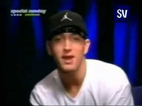 Eminem laughing at his fans