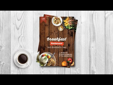 Learn To Design a Breakfast Restaurant Flyer / Poster Design In Adobe Photoshop