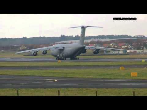 Lockheed C 5 Galaxy USA   Air Force Glasgow, Scotland   Prestwick PIK   EGPK ID16669