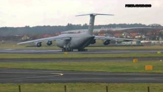 Lockheed C 5 Galaxy USA   Air Force Glasgow, Scotland   Prestwick PIK   EGPK ID16669