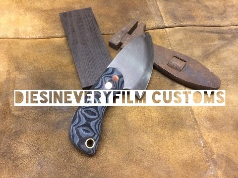 Knife Making - Custom EDC Skinning Knife Micarta Handle