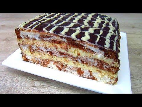 Торт 🍰 «Клеопатра» | Вкуснейший Торт с Творожным Кремом