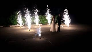 Свадебная дорожка из 10 пиротехнических фонтанов 9.06.2018