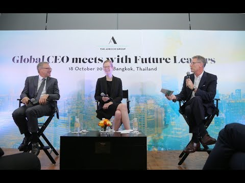 The Adecco Group Global CEO Meets with Future Leaders in Thailand