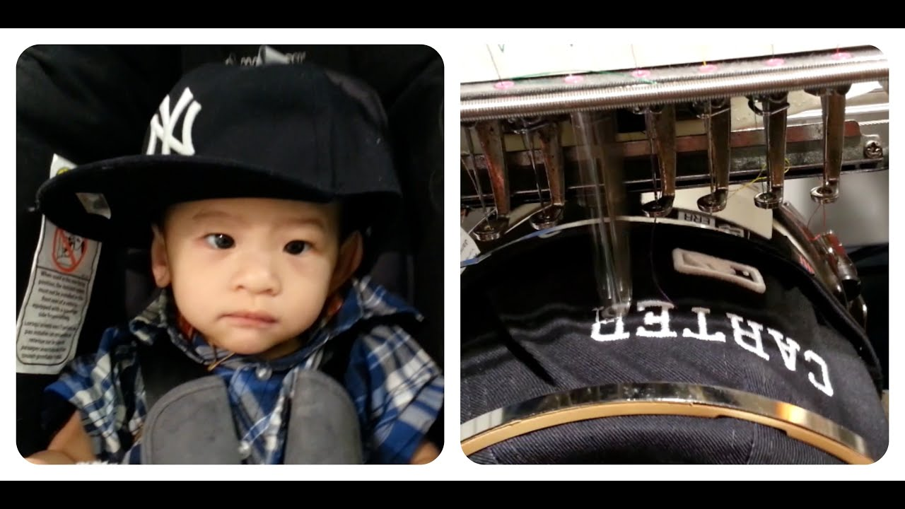 Babys First Hat Custom Embroidery Lids Youtube