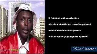 ŨTONGA NĨ WA NGAI 2K LYRICS VIDEO By Julius Kang'ethe(Bylaw)
